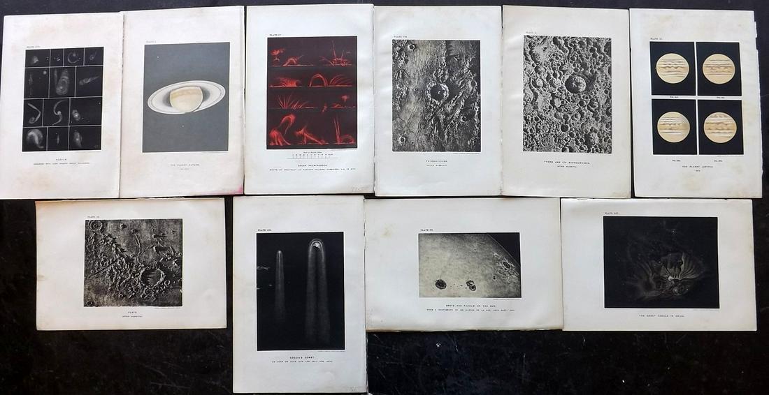 Ball, Robert Stawell 1897 Lot of 10 Astronomy Prints