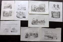 dUrville Dumont 1834 Lot of 8 Prints Pacific