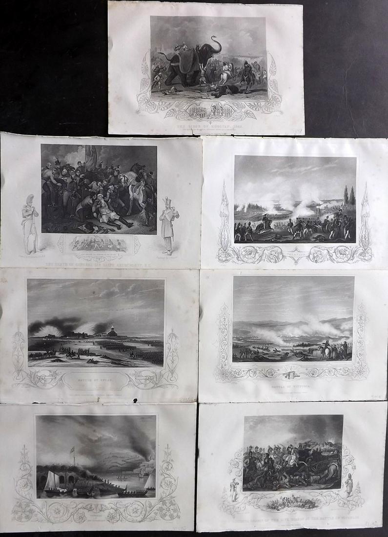 Williams, Lieut 1857 Lot of 7 Military Prints