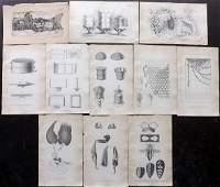 Jardine, William C1840 Lot of 11 Prints. Bee Keeping