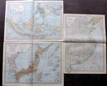 China Japan Korea  East Indies 1903 Lot of 3 Maps