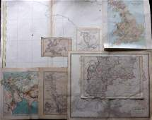 Maps 19th Century. Mixed Lot of 8