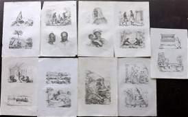 dUrville Dumont 1834 Lot of 9 Prints Asia  Pacific