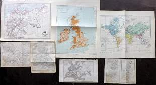 Maps C18501908 Mixed Lot of 7 Maps