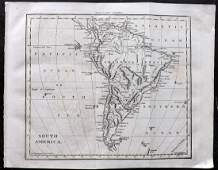 Walker, John 1815 Antique Map of South America