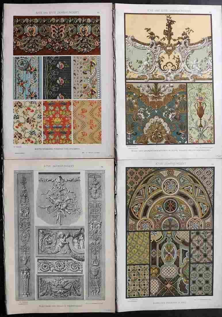 Dolmetsch, Heinrich 1895 Lot 4 Prints. 17th & 18th Cent
