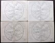 Russell, S. I. 1855 Set of 4 Celestial Maps. Astronomy
