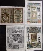 Dolmetsch Heinrich 1895 Mixed Lot of 4 Design Prints