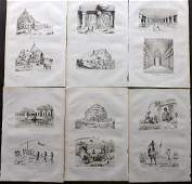 dUrville Dumont 1839 Lot of 6 Prints India