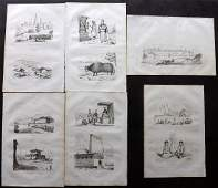 dUrville Dumont 1839 Lot of 6 Prints Tibet Nepal