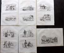 dUrville Dumont 1839 Lot of 6 Prints Turkey Armenia