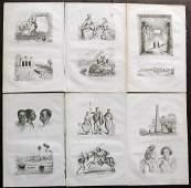 dUrville Dumont 1839 Lot of 6 Prints Africa