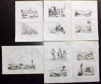 dUrville Dumont 1839 Lot of 6 Prints Holy Land