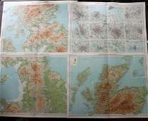Bartholomew, John 1922 Lot of 8 Maps. UK & Ireland