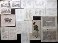 Mixed Prints 18th19th Century Lot of 18