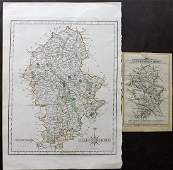 Cary John 178790 Pair of Maps of Staffrodshire UK
