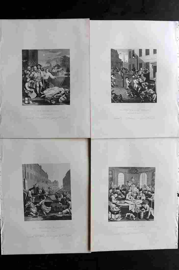 Hogarth, William C1880 Set of 4. Four Stages of Cruelty