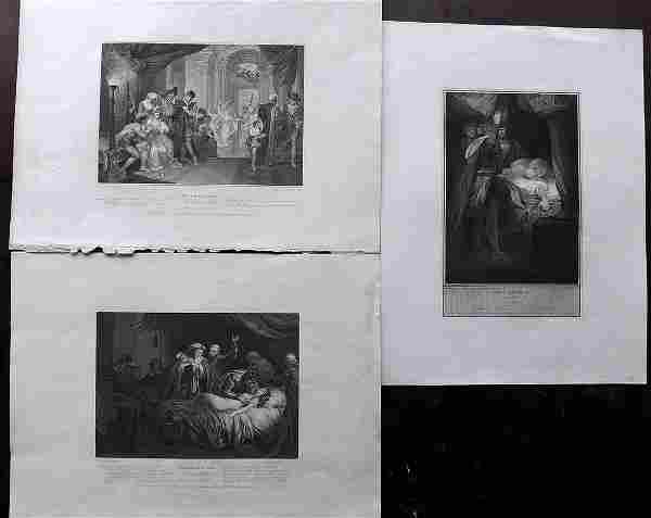Boydell Shakespeare Gallery 1790's Lot of 3 LG Prints