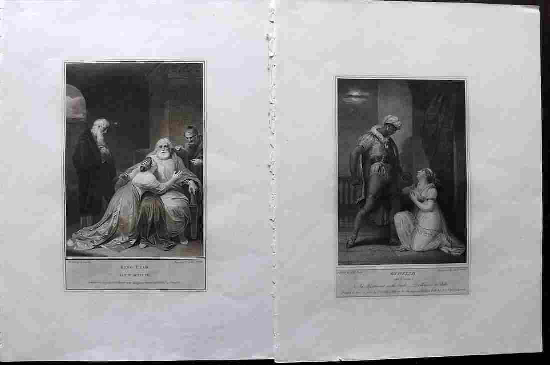 Boydell Shakespeare Gallery 1790's Pair of LG Prints