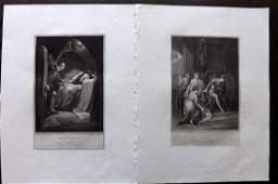 Boydell Shakespeare Gallery 1790s Pair of LG Prints