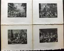 Hogarth William 1833 Set of 4 Four Stages on an