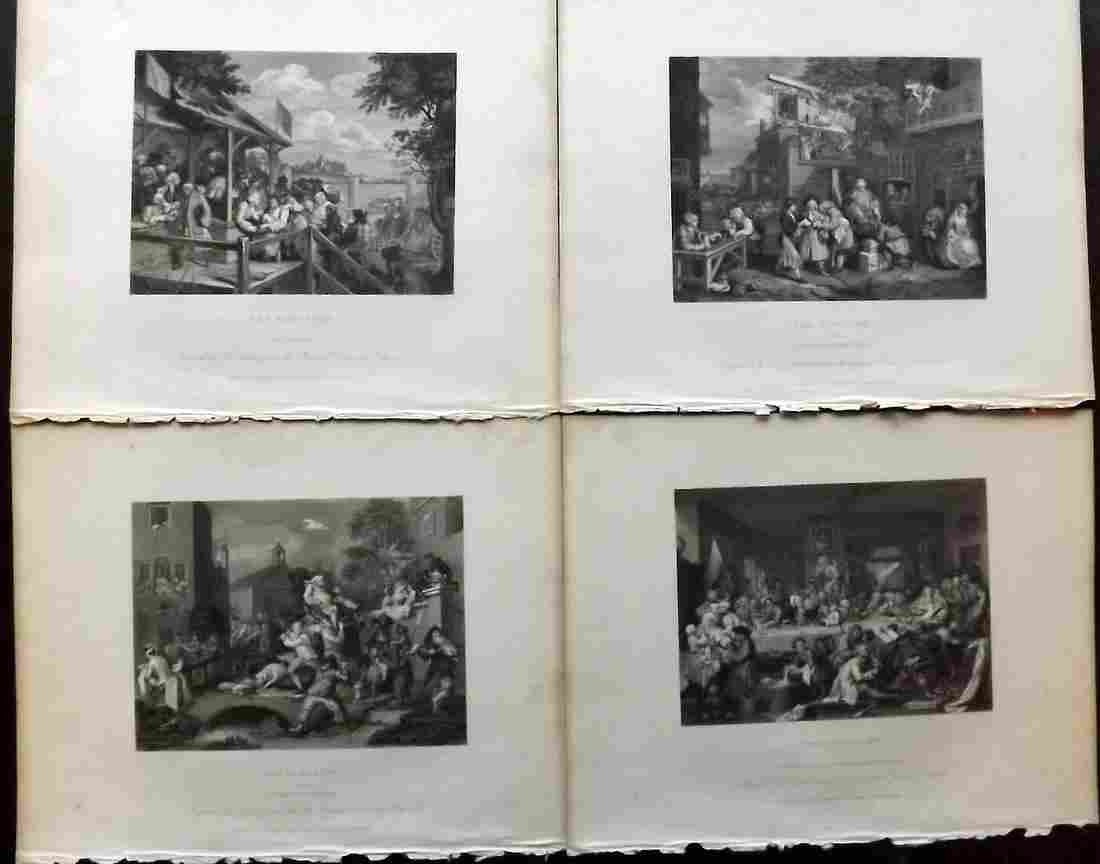 Hogarth, William 1833 Set of 4. Four Stages on an