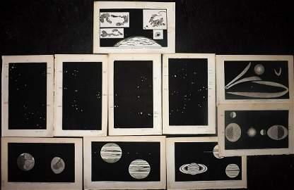 Mozley (Pub) 1859 Lot of 10 Astronomy Celestial Prints