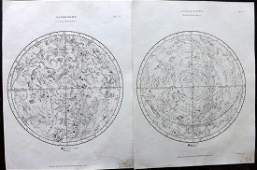 Encyclo. Metropolitana C1830 Pair of Celestial Charts
