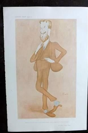 Vanity Fair Print 1905 George Bernard Shaw. Beerbohm