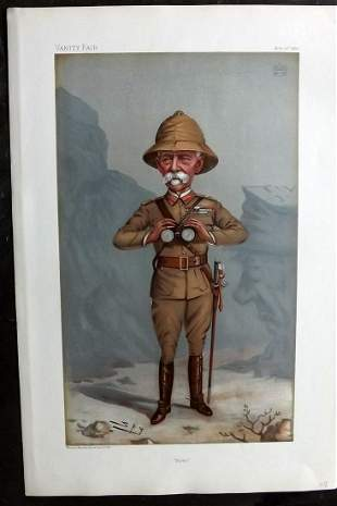 Vanity Fair Print 1900 Lord Roberts, Boer War Military
