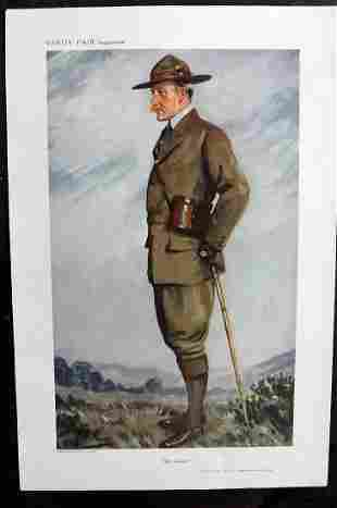 Vanity Fair Print 1911 Lord Baden Powell, Boy Scouts