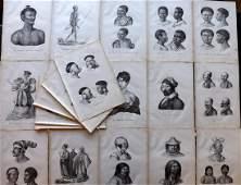 Schinz & Brodtmann 1827 Lot of 21 Folio Native Studies