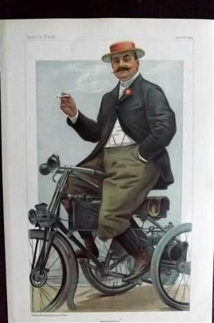 Vanity Fair Print 1899 Comte de Dion, Automobile