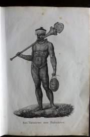 Schinz & Brodtmann 1827 Folio Print. Pacific Tattoo Man
