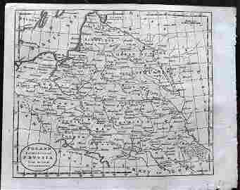 Guthrie, William 1790 Map. Poland, Lithuania, Prussia