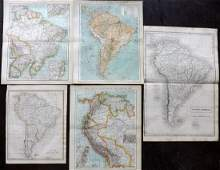 South America C18301890s Lot of 5 Maps