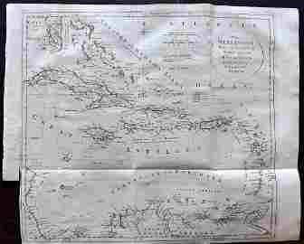 Kitchin, Thomas 1785 Antique Map of The West Indies