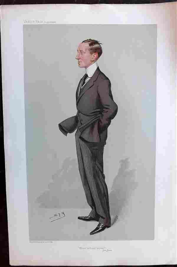 Vanity Fair Print 1905 Guglielmo Marconi, Radio