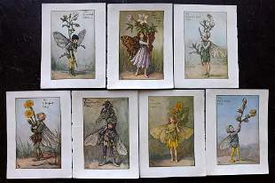 Barker, Cicely Mary C1940 Lot of 7 Flower-Fairy Prints