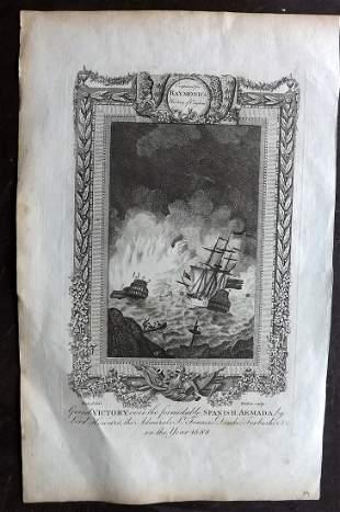 Raymond, George 1787 Folio Ship Print. Spanish Armada