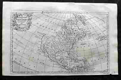 Rollos & Vaugondy 1765 Map of North America. USA