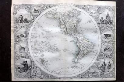 Tallis, John (Pub) 1852 Map. Western Hemisphere