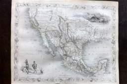Tallis, John (Pub) 1852 Map. Mexico, California & Texas