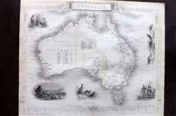 Tallis, John (Pub) 1852 Map. Australia
