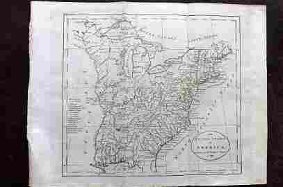 Guthrie, William 1798 Map. United States of America