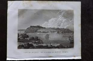 Clarke, J. W. 1817 Print. View of Quebec, Canada