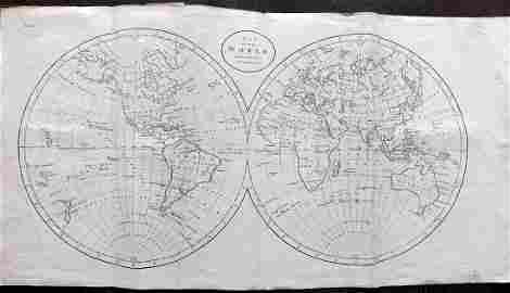 Guthrie, William 1806 Map. World Hemispheres