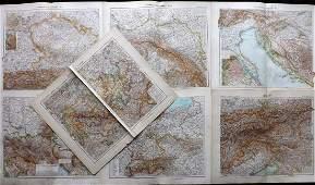 Stieler, Adolph 1905 Lot 7 Maps Austria Germany Hungary