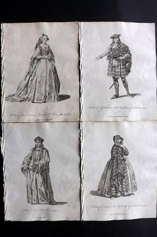 Jefferys, Thomas C1760 Lot 4 Prints. Scotland, England