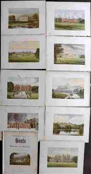 Morris Seats C1870 Lot of 10 Color Woodblock Views